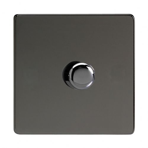 Varilight JDIP401S Screwless Iridium Black 1 Gang 2-Way Push-On/Off LED Dimmer 0-120W V-Pro